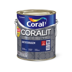 CORAL ESMALTE FERROLACK BRANCO 3,6L - Baratão das Tintas