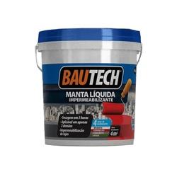 BAUTECH MANTA LÍQUIDA CINZA 4KG - Baratão das Tintas