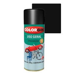 COLORGIN SPRAY USO GERAL PRETO SEMIBRILHO 400ML - Baratão das Tintas