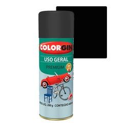 COLORGIN SPRAY USO GERAL PRETO FOSCO 400ML - Baratão das Tintas