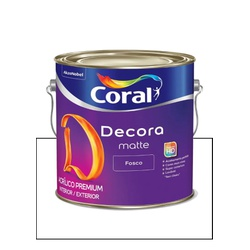 CORAL DECORA ACRÍLICO FOSCO BRANCO 3,6L - Baratão das Tintas