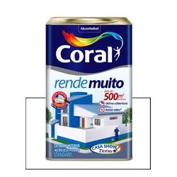 CORAL RENDE MUITO FOSCO BRANCO 18L - Baratão das Tintas