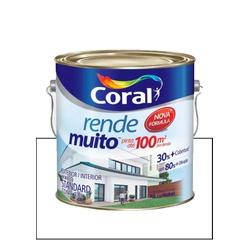 CORAL RENDE MUITO FOSCO BRANCO 3,6L - Baratão das Tintas