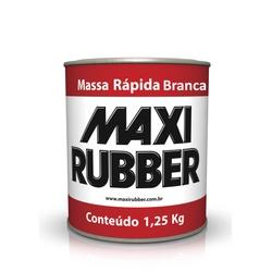 MASSA RÁPIDA BRANCA MAXI RUBBER 1,25KG - Baratão das Tintas