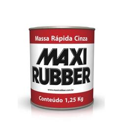 MASSA RÁPIDA CINZA MAXI RUBBER 1,25KG - Baratão das Tintas