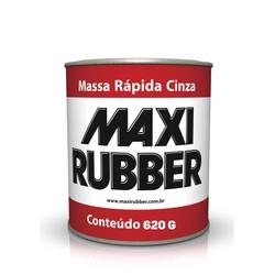 MASSA RÁPIDA CINZA MAXI RUBBER 620GR - Baratão das Tintas