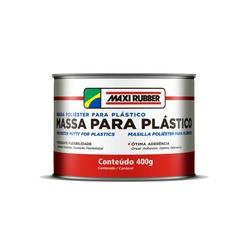 MASSA POLIÉSTER P/ PLÁSTICO MAXI RUBBER 400GR - Baratão das Tintas