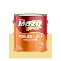 MAZA ACRÍLICO ULTRA AMARELO CANARIO 3,6L - Baratão das Tintas