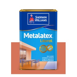 METALATEX LITORAL ACETINADO TERRACOTA 18L - Baratão das Tintas