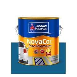 NOVACOR PISO MAIS RESISTENTE AZUL 3,6L - Baratão das Tintas