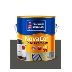 NOVACOR PISO MAIS RESISTENTE CINZA CHUMBO 3,6L - Baratão das Tintas