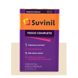 SUVINIL ACRILICO FOSCO COMPLETO PÉROLA 18L - Baratão das Tintas