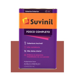 SUVINIL ACRILICO FOSCO COMPLETO TOMATE SECO 18L - Baratão das Tintas