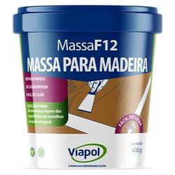 VIAPOL MASSA F12 MOGNO 400GR - Baratão das Tintas