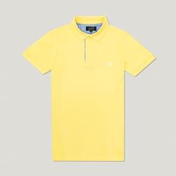 Camisa Polo Amarelo Claro Algodão - 790001903 - Basilio Since 1966