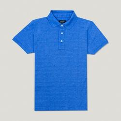 Camisa Polo Azul Algodão - 790001912 - Basilio Since 1966