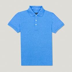 Camisa Polo Azul Escola Algodão - 790001913 - Basilio Since 1966