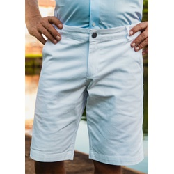 Bermuda de Sarja Peletizada Comfort Branco - 79000... - Basilio Since 1966