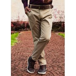 Calça de Sarja Peletizada Comfort Caqui - 79000520... - Basilio Brazilian Wear