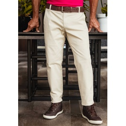 Calça de Sarja Peletizada Comfort Bege - 790005203 - Basilio Brazilian Wear