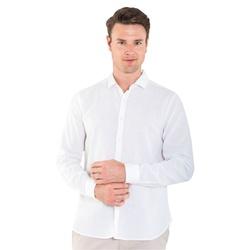 Camisa Linho e Algodão Off White Manga Longa - 790... - Basilio Brazilian Wear