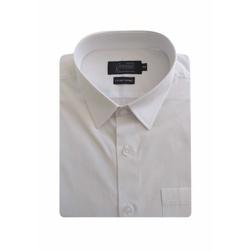 Camisa Social Lisa Branca Comfort Manga Curta - 79... - Basilio Since 1966