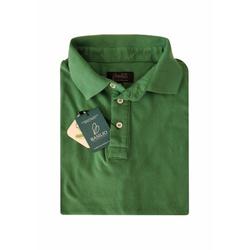 Camisa Polo Verde Algodão - 790001906 - Basilio Brazilian Wear