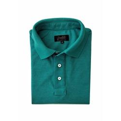 Camisa Polo Verde Laguna Algodão - 790001911 - Basilio Brazilian Wear