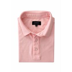 Camisa Polo Rosa Algodão - 790001909 - Basilio Brazilian Wear