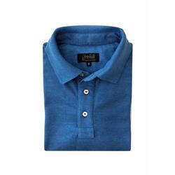 Camisa Polo Azul Algodão - 790001912 - Basilio Brazilian Wear