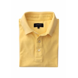 Camisa Polo Amarelo Algodão - 790001905 - Basilio Brazilian Wear