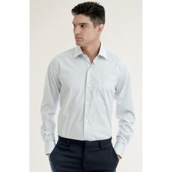 Camisa Social Quadriculada Cinza Comfort - 2810121... - Basilio Brazilian Wear
