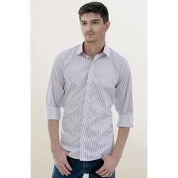 Camisa Social Listrada Vinho Slim - 26627211080 - Basilio Brazilian Wear