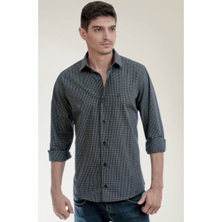 Camisa Social Quadriculada Preto Slim - 2809721102 - Basilio Brazilian Wear