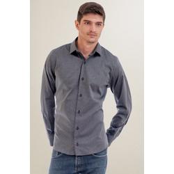 Camisa Social Texturizada Preto Slim - 26417211025 - Basilio Brazilian Wear