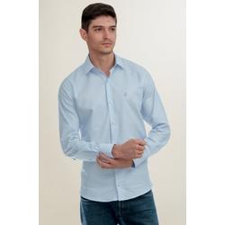 Camisa Social Texturizada Azul Slim - 27467211010 - Basilio Brazilian Wear
