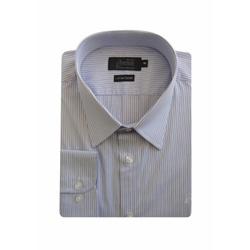 Camisa Social Listrada Maquinetada Azul Slim 4529/... - Basilio Brazilian Wear