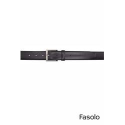 Cinto Social Masculino em Couro Preto Fasolo G138 ... - Basilio Since 1966