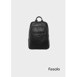 Mochila em Couro Preto Fasolo R090080 - 790108901 - Basilio Brazilian Wear