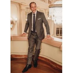 Terno Masculino Slim Comfort Super 120 Cinza - 790... - Basilio Brazilian Wear