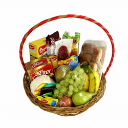 Cesta de café da manhã semi natural - 9813 - Bellas Cestas Online Salvador