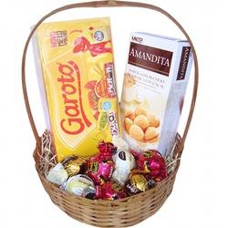 Cesta Delicias Chocolates - 9818 - Bellas Cestas Online Salvador