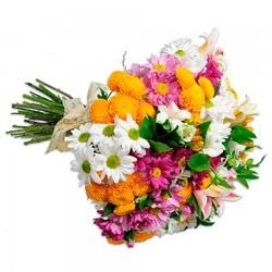 Buquê Garden Flores Do Campo - 2306 - Bellas Cestas Online Salvador