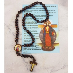 Folheto Postal com Terço Santas Chagas - 26496 - Betânia Loja Católica