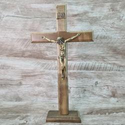 Crucifixo Mesa e Parede -Madeira 35 cm - 26362 - Betânia Loja Católica
