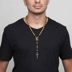Colar Terço São Miguel Arcanjo - 26916 - Betânia Loja Católica