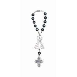 Dezena Hematita com Nossa Senhora Aparecida - 2227 - Betânia Loja Católica
