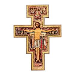 Cruz São Damião para parede 19 cm - 25236 - Betânia Loja Católica