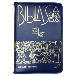 Bíblia Sagrada Edição Pastoral - Média Zíper Azul ... - Betânia Loja Católica