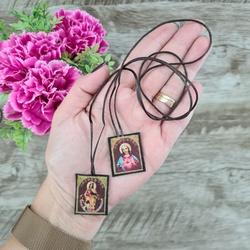 Escapulário em tecido -pequeno - 26542 - Betânia Loja Católica